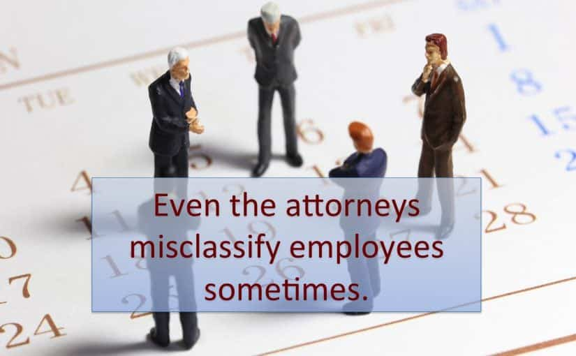 Atlanta Law Firm Charged with Exempt Employee Misclassification